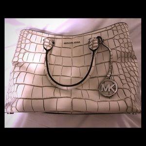 RARE Michael Kors Beautiful Hamilton Croc Bag